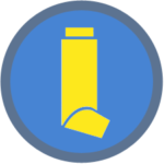 MDI Icon - blue yellow